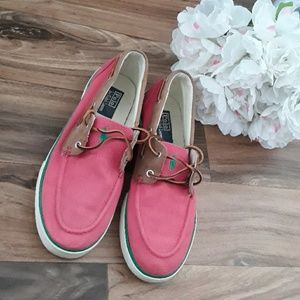 Ralph Lauren Polo Rylander Salmon Boat shoes